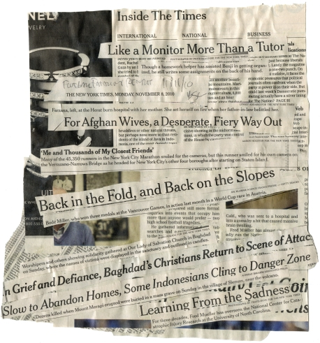 (For Afghan Wives) NYT 11-8-10 - BSC 11-11-10  BACK
