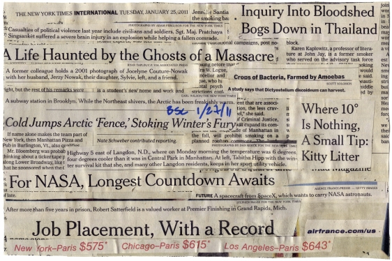 """(Into Bloodshed Bogs) NYT 1-25-11 - BSC 1-27-11  9 1-2X6 1-8""""  BACK"""