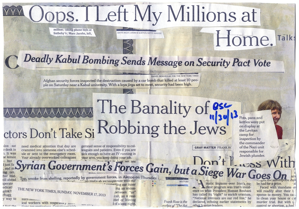 THE BANALITY OF ROBBING THE JEWS NYT 111713 - BSC 113013 BACK.jpg