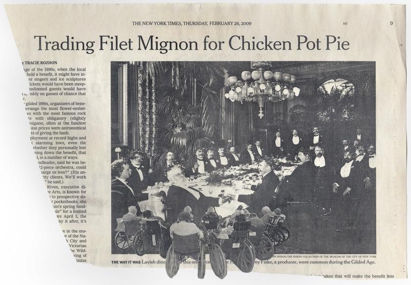 'TRADING FILET MIGNON FOR CHICKEN POT PIE' NYT 2-26-09 - BSC 3-3-09 FRONT.jpg