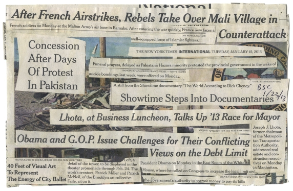 'VILLAGE IN COUNTERATTACK'  NYT 1-15-13 - BSC 1-23-13 BACK .jpg